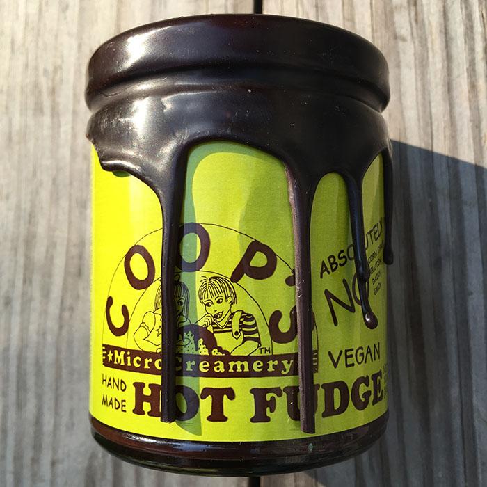 Coop's MicroCreamery Hand Made Vegan Hot Fudge