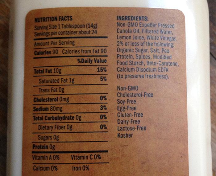 just-mayo-ingredients | Vegan ShowOff