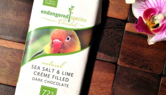 Endangered Species Sea Salt & Lime Crème Filled Dark Chocolate Bar