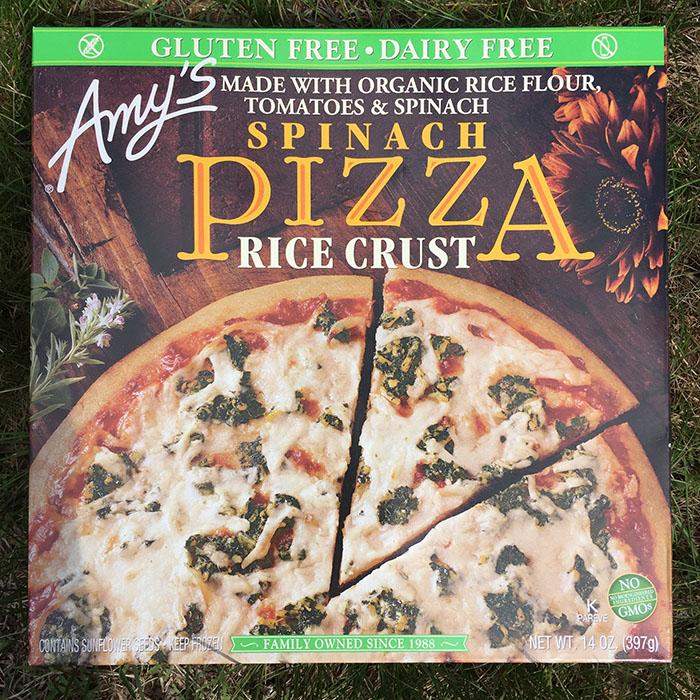 Rice Crust Spinach Pizza