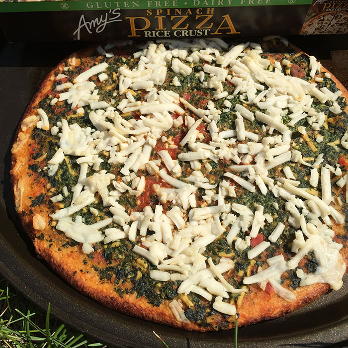 Amy's Gluten Free Dairy Free Vegan Spinach Pizza