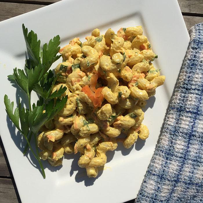 Easy Vegan Curried Pasta Salad Recipe